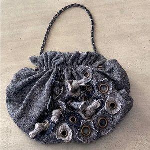 NWT CHAN LUU Sm. Handbag w/Leather & Chain Handle